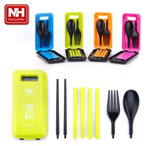 Fancy Naturehike - NH Practical Cutlery Set 3 in 1 Spoon + Chopsticks + Fork for Outdoor Camping Business Traveling - ROSE  Mobile
