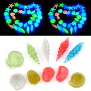 Colorful Luminous Starfish Conch Shells Set Aquarium Decors Simulation Fish Tank Decoration