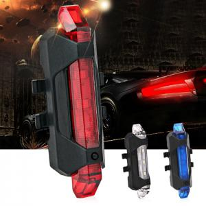 Portable LED USB Rechargeable Cycling Bike Tail Light -