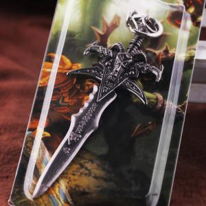 Key Chain Sword Style Hanging Pendant Alloy Keyring Online Video Game Toy for Bag Decoration -