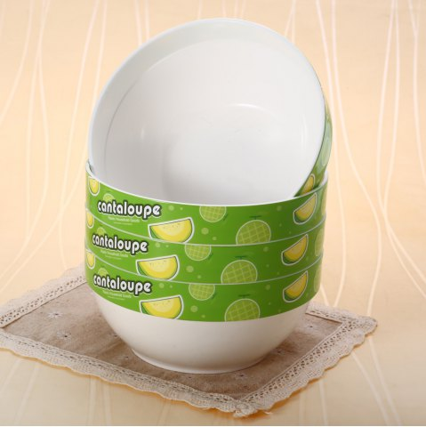 Best 4PCS Circular Shape Bowl Lunch Fruit Food Storage Box