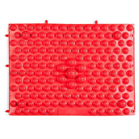TPE Acupressure Foot Massage Pad for Fitness Exercise - Red