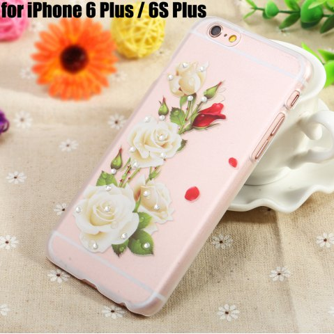 Shop Diamond Style Protective Case for iPhone 6 Plus / 6S Plus Ultra-thin Soft PVC Mobile Shell