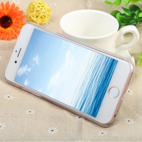 Outfit Diamond Style Protective Case for iPhone 6 / 6S Ultra-thin PC Hard Mobile Shell - WHITE ROSE TRANSPARENT Mobile
