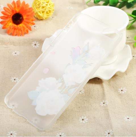 New Diamond Style Protective Case for iPhone 6 / 6S Ultra-thin PC Hard Mobile Shell - WHITE ROSE TRANSPARENT Mobile