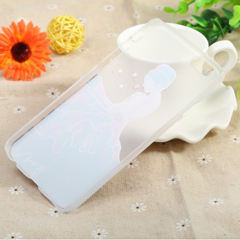 Store Diamond Style Protective Back Case for iPhone 6 / 6S Ultra-thin PC Hard Mobile Shell - LADY TRANSPARENT Mobile