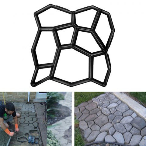 Practical Paving Concrete Mold Pavement Brick Patio Slabs Making Tool - BLACK