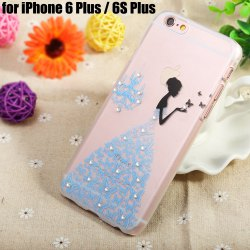 Diamond Style Protective Back Case for iPhone 6 Plus / 6S Plus Ultra-thin PC Hard Mobile Shell -