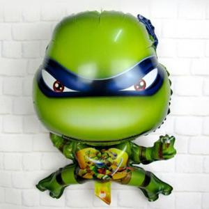 Auto-Seal Turtle Style Foil Balloon Reuse Party / Birthday Decor Inflatable Gift for Children - GREEN