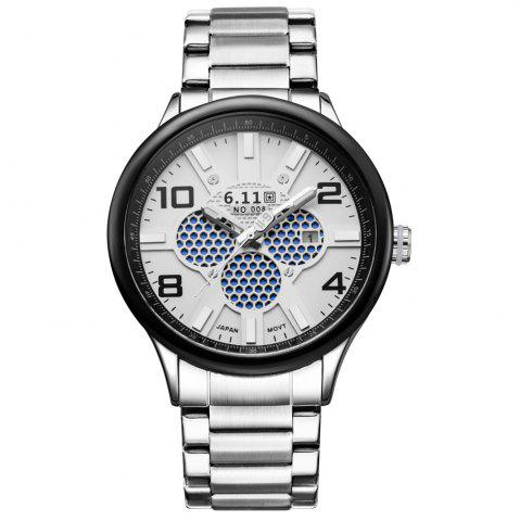 Chic 6.11 GD008 Photoelectric Conversion Male Watch Japan Movt Mineral Glass Date Display