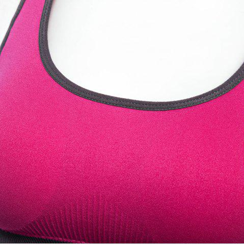 Shops Seamless Yoga Striped Sports Bra No Rim for Outdoor Running - L ROSE RED Mobile