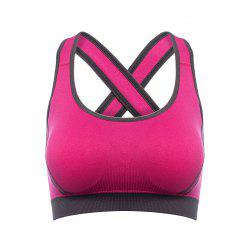 Danmaner Fashionable Seamless Yoga Bra No Rim Cross Back Strap