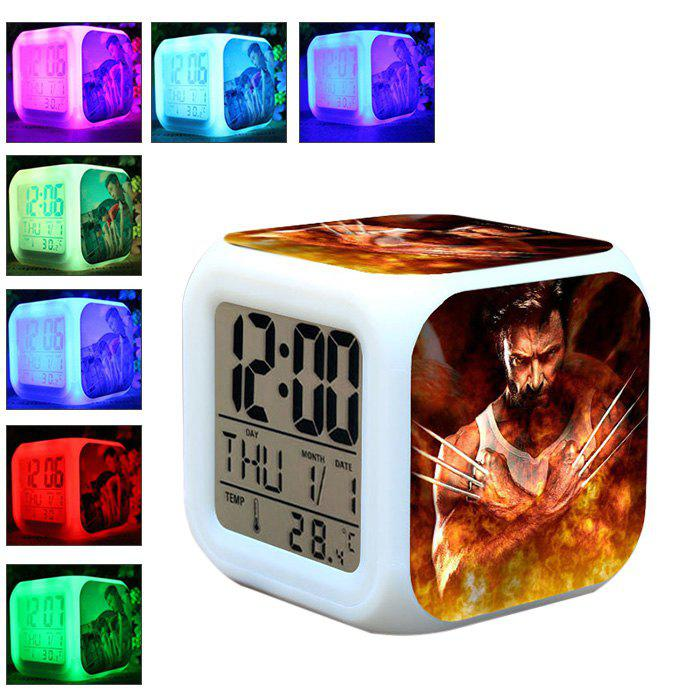 Coloring for Kids kids color changing alarm clock : 2019 Anime Pattern Digital Alarm Clock 7 Color Change Led Glowing ...