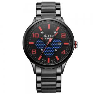 6.11 GD008 Photoelectric Conversion Male Watch Japan Movt Mineral Glass Date Display -
