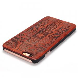 Carved Pattern Wooden Shockproof Protective Back Case for iPhone 6 Plus / 6S Plus -