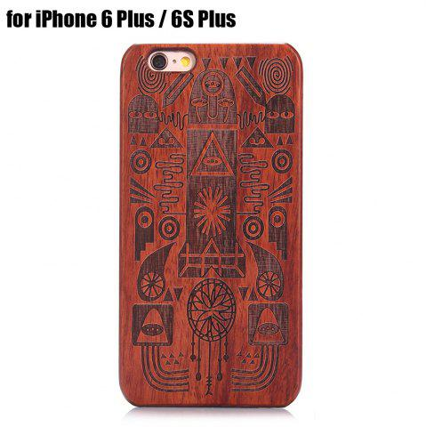 Hot Carved Pattern Wooden Shockproof Protective Back Case for iPhone 6 Plus / 6S Plus
