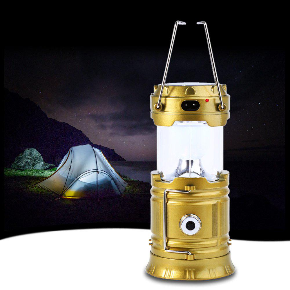 BRELONG Lampe de Camping Solaire LED Rechargeable 4W 350LM 6 x SMD 3528