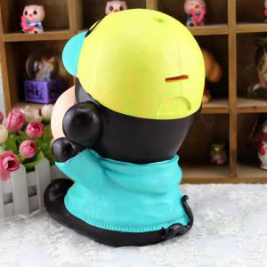 Cute Monkey Shape Saving Pot Money Box Model Toy Decoration Home Bedroom - BLUE