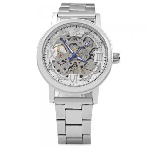 JIJIA Roman Scale Style Hollow-out Mechanical Watch for Men -