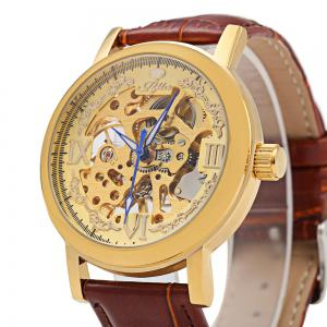 JIJIA Roman Scale Style Hollow-out Mechanical Watch for Male -