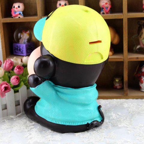 Fancy Cute Monkey Shape Saving Pot Money Box Model Toy Decoration Home Bedroom - BLUE  Mobile