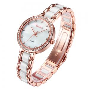WeiQin 1033 Shell Dial Face Diamond Scale Design Female Imported Quartz Watch -