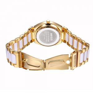 WeiQin 1030 Simple Digital Nailed Scale Female Japan Quartz Watch Hardlex Mirror -