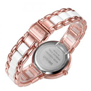 WeiQin 1033 Shell Dial Face Diamond Scale Design Female Imported Quartz Watch - ROSE GOLD/WHITE