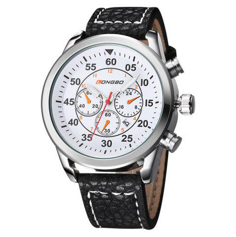 Shop LONGBO 1036 Men Decorative Sub-dials Imported Movement Quartz Watch