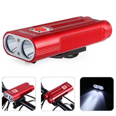 Buy DECAKER Multi-function 1200Lm 5 Mode XML T6 LED Bicycle Light Flashlight - Red