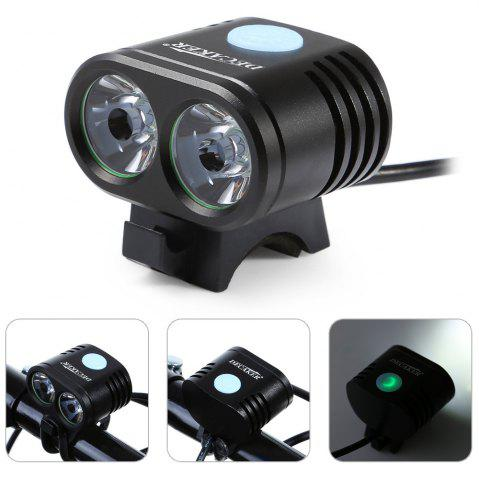 Hot DECAKER 5 Modes 1200Lm XML - T6 2 LED 10W Bicycle Light -   Mobile