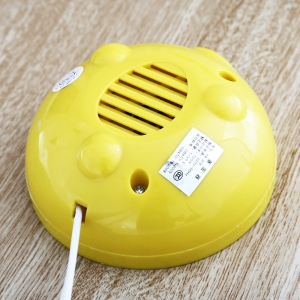 Practical Mini Electric Egg Boiler Eggs Cooker Steamer Kitchen Tool - WHITE AND YELLOW
