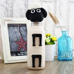 Cartoon Sheep Shaped Water Bottle Portable Drinking Cup 300ml -