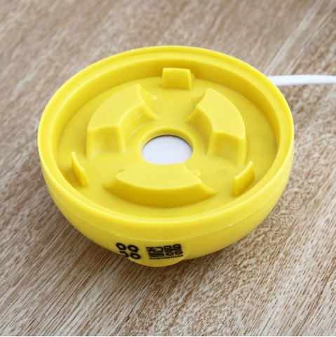 Fancy Practical Mini Electric Egg Boiler Eggs Cooker Steamer Kitchen Tool - WHITE AND YELLOW  Mobile