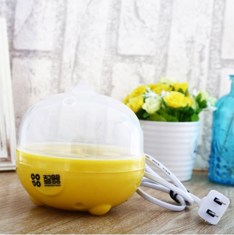 Affordable Practical Mini Electric Egg Boiler Eggs Cooker Steamer Kitchen Tool - WHITE AND YELLOW  Mobile