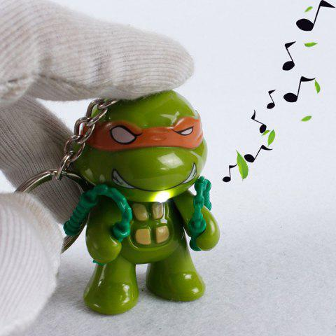 Chic 5.7cm 1PC LED Lighting Sound Turtle Key Chain Kid Toy Gift Bag Desktop Decoration - COLORMIX  Mobile