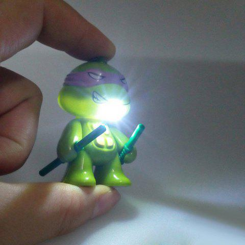Outfit 5.7cm 1PC LED Lighting Sound Turtle Key Chain Kid Toy Gift Bag Desktop Decoration - COLORMIX  Mobile