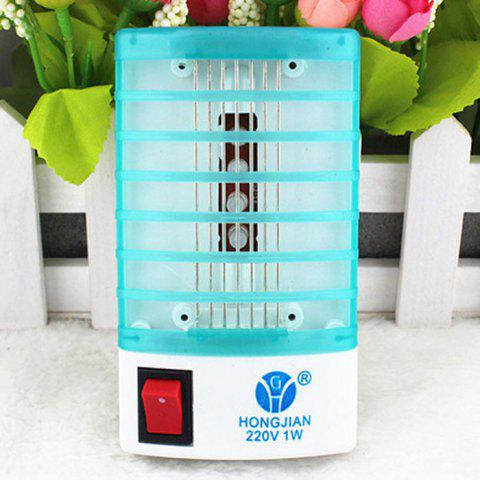 Trendy 2 in 1 Mute Mosquito Killer Lamp LED Night Light Atmosphere Nightlight Decors - US PLUG BLUE AND WHITE Mobile