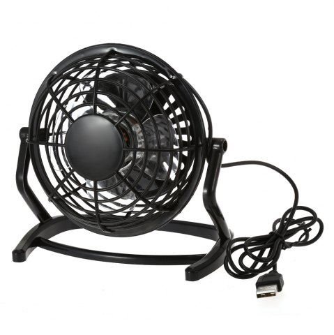 Outfit Lione - 816 USB Powered Adjustable 4 inch Mini Desktop Fan for Office - BLACK  Mobile