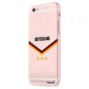 BASEUS Mobile Phone Back Case Protector with European Championship Design for iPhone 6 Plus / 6S Plus -