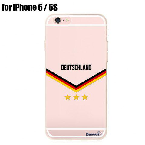 Unique BASEUS Mobile Phone Back Case Protector with European Championship Design for iPhone 6 / 6S