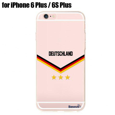 Chic BASEUS Mobile Phone Back Case Protector with European Championship Design for iPhone 6 Plus / 6S Plus
