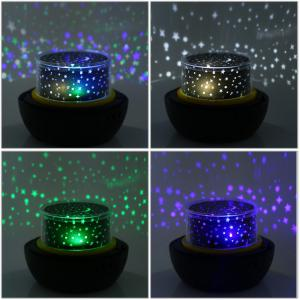 Romantic Diamonds Projection Lamp Decorative Moon Starry Night Light -