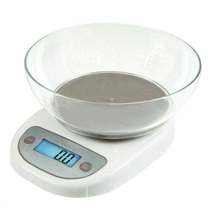 Outfits Precise Electronic Digital Kitchen Scale with Bowl Food Weighing Tool 0.1g - 5kg