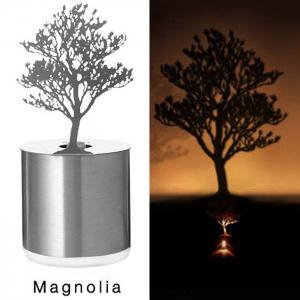 Creative Pine Shadow Projection LED Lamp Romantic Atmosphere Candle Decor Light - SILVER PINE