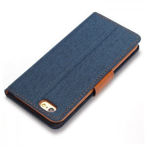 Jeans Design Flip PU Full Body Cover Case for iPhone 6 / 6S with Stand Card Holder -