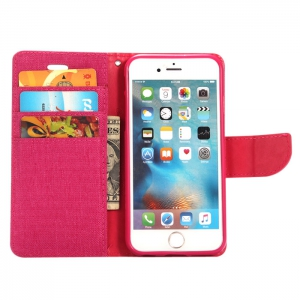 Jeans Design Flip PU Full Body Cover Case for iPhone 6 Plus / 6S Plus with Stand Card Holder -