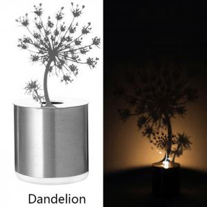 Creative Nest Shadow Projection LED Lamp Romantic Atmosphere Candle Decor Light - SILVER NEST