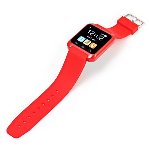 New U80 Smart Watch with Pedometer Function - RED  Mobile