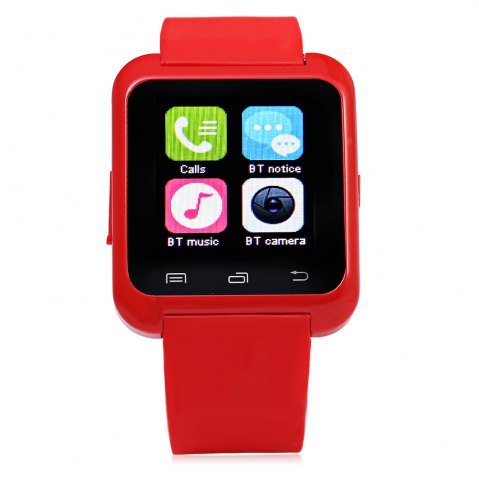 Unique U80 Smart Watch with Pedometer Function - RED  Mobile